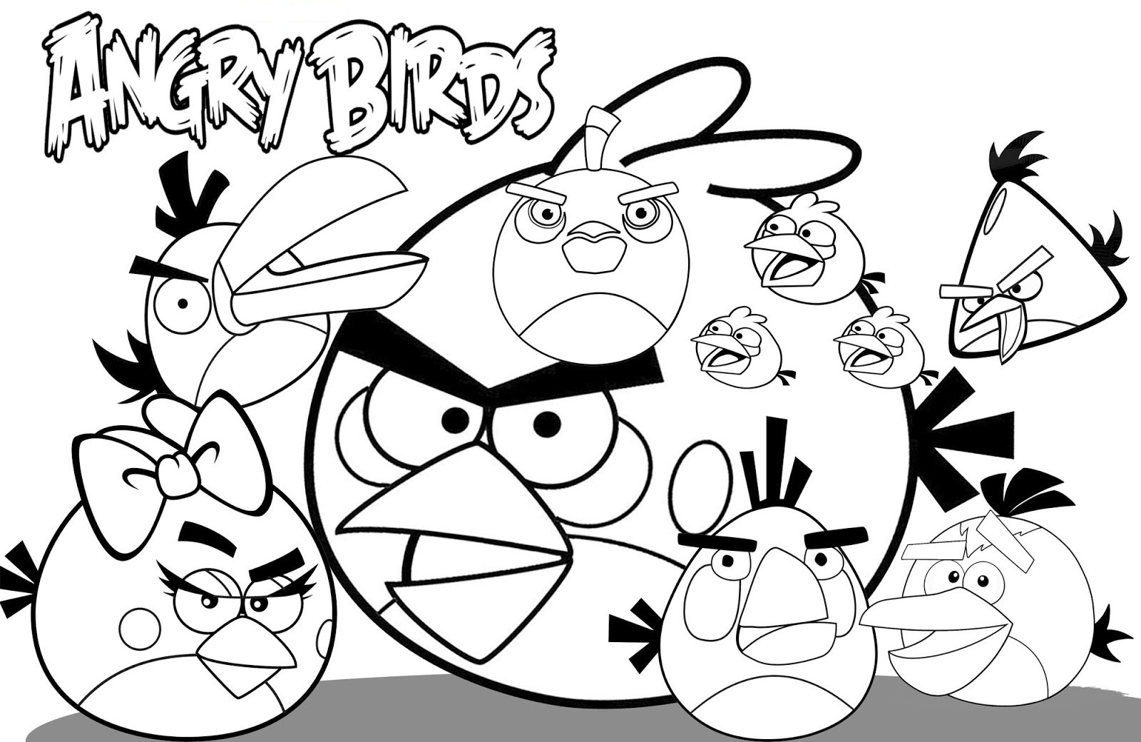 1600x1040 Angry Birds Drawing Templates
