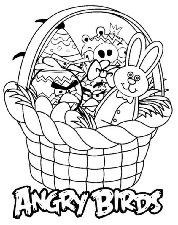600x755 Angry Birds Easter Coloring Pages For Kids