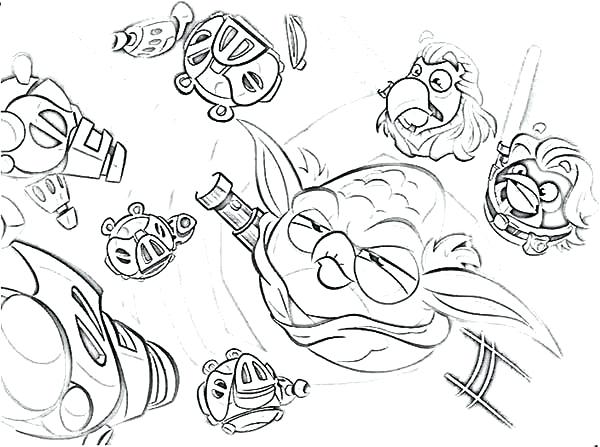 600x447 Coloring Pages Angry Birds Star Wars Coloring Page Of Birds