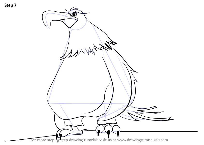 844x598 Learn How To Draw Mighty Eagle From The Angry Birds Movie (The