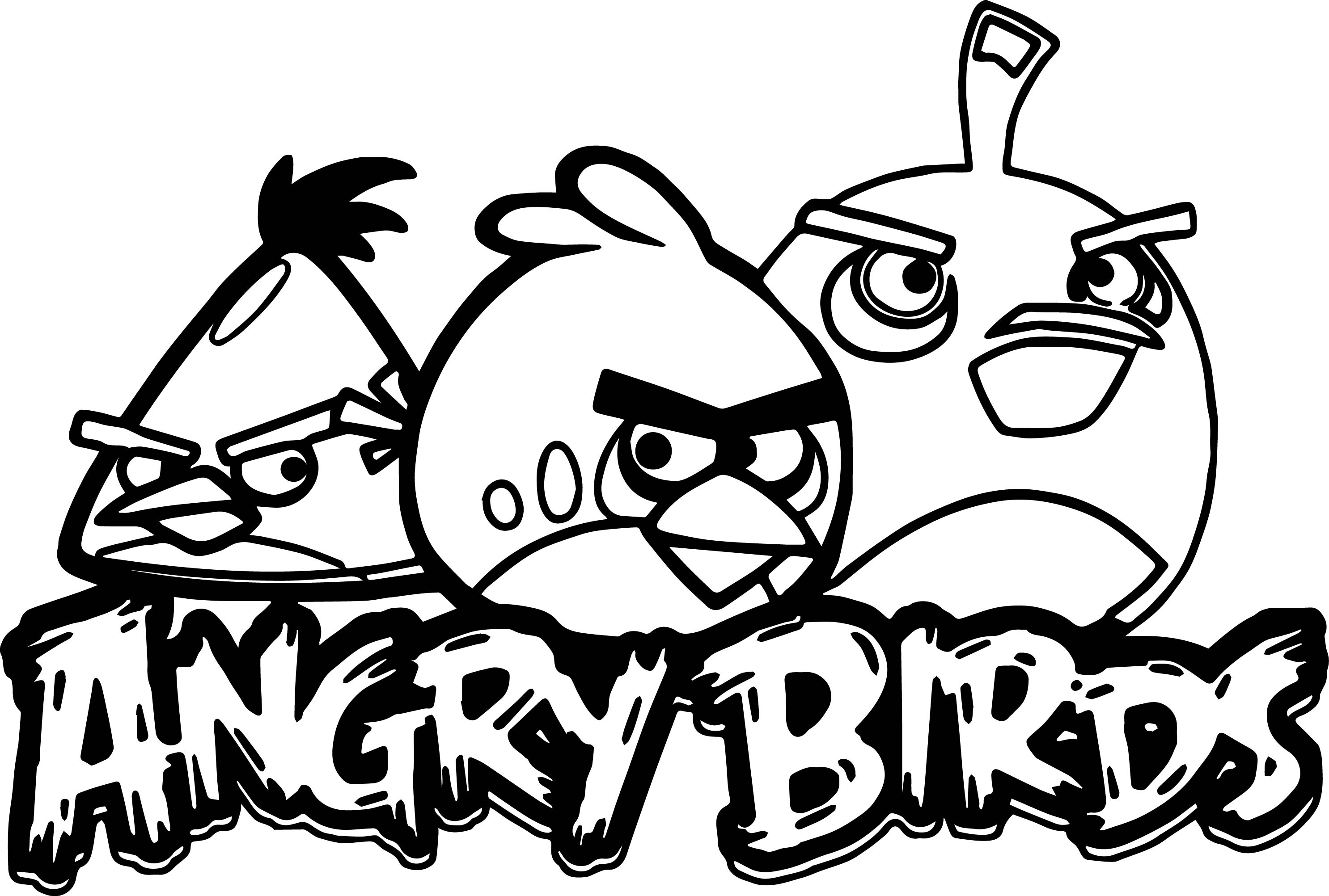 2972x2005 Angry Birds Coloring Pages For Kids Printable Preschool Humorous
