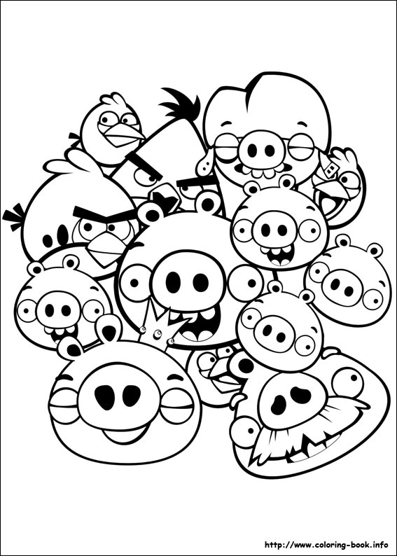 567x794 Birds Coloring Picture