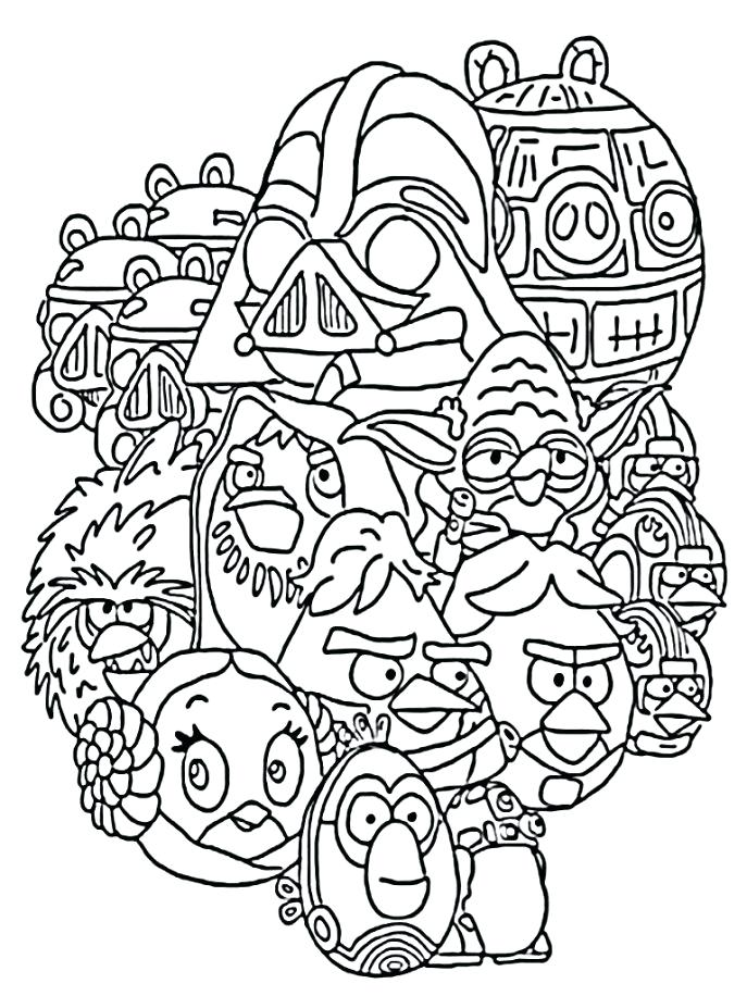 687x916 Star Wars Angry Bird Coloring Pages Medium Size Of Wars Coloring