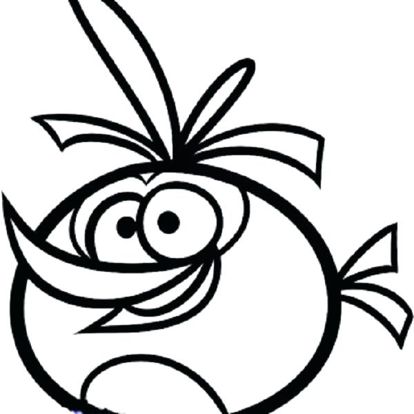 600x600 Unique Free Angry Birds Coloring Pages Download Easy Orange Bird