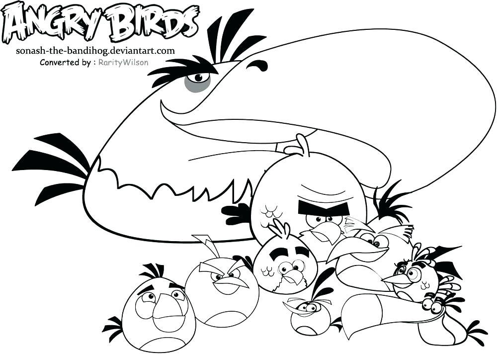 1000x718 Angry Bird Coloring Book Genesisar.co
