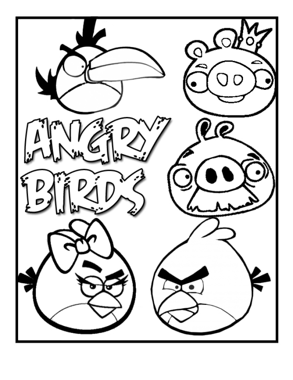 598x774 Angry Bird Coloring Pages Printable For Cure Draw Photo