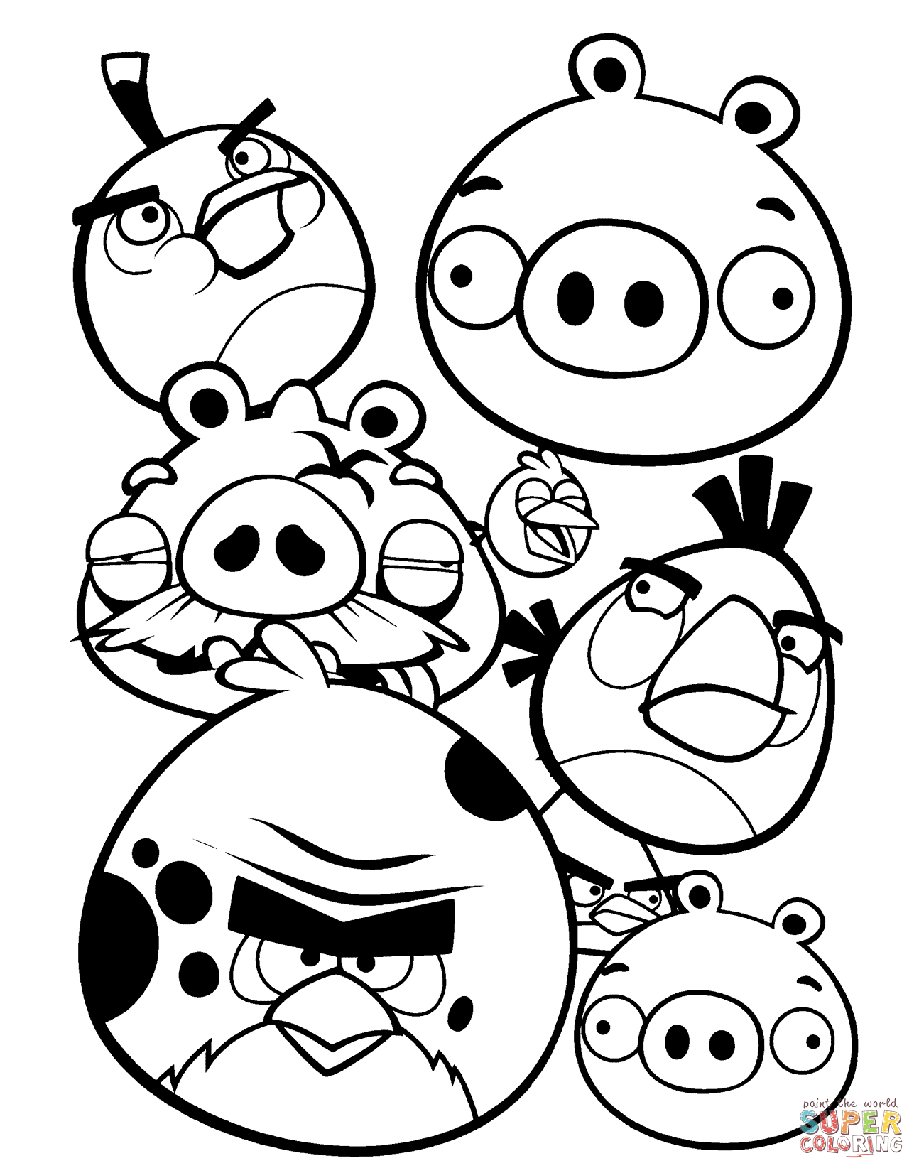 1294x1651 Angry Birds Drawing Book Angry Birds Coloring Page Free