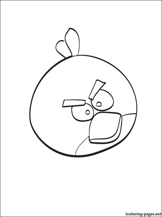 560x750 Coloring Page Angry Birds Red Bird Coloring Pages