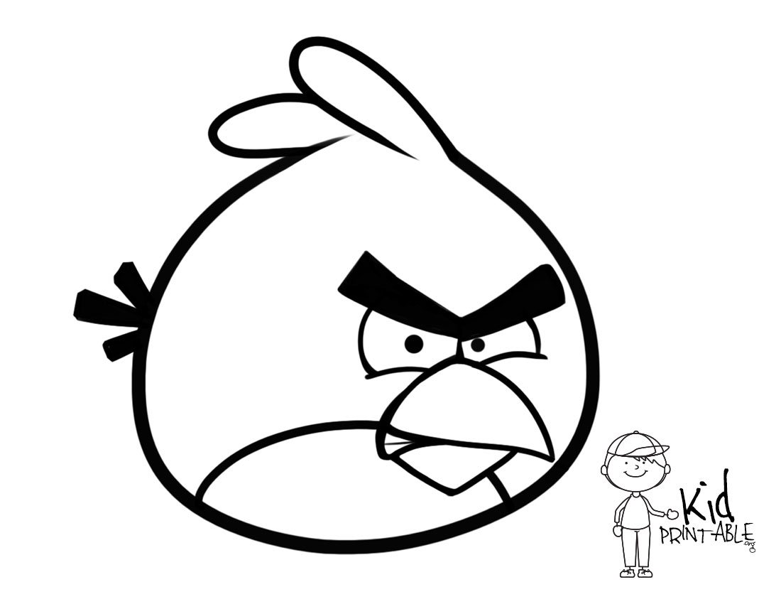 1100x850 Red Angry Bird Coloring Page Pages Guru