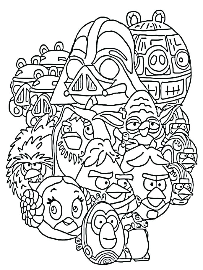 687x916 Unique Star Wars Angry Birds Coloring Pages Fee Bird Epic Pa