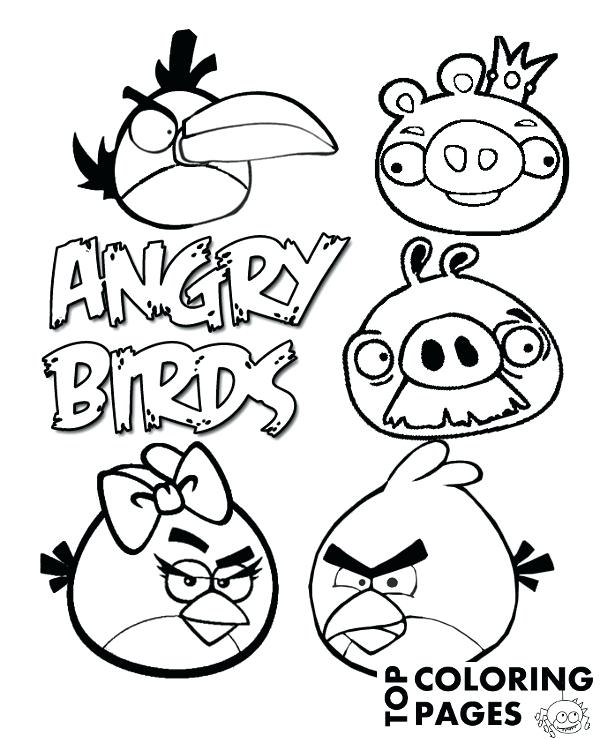 600x740 Angry Birds Coloring Page Bird Epic Pages