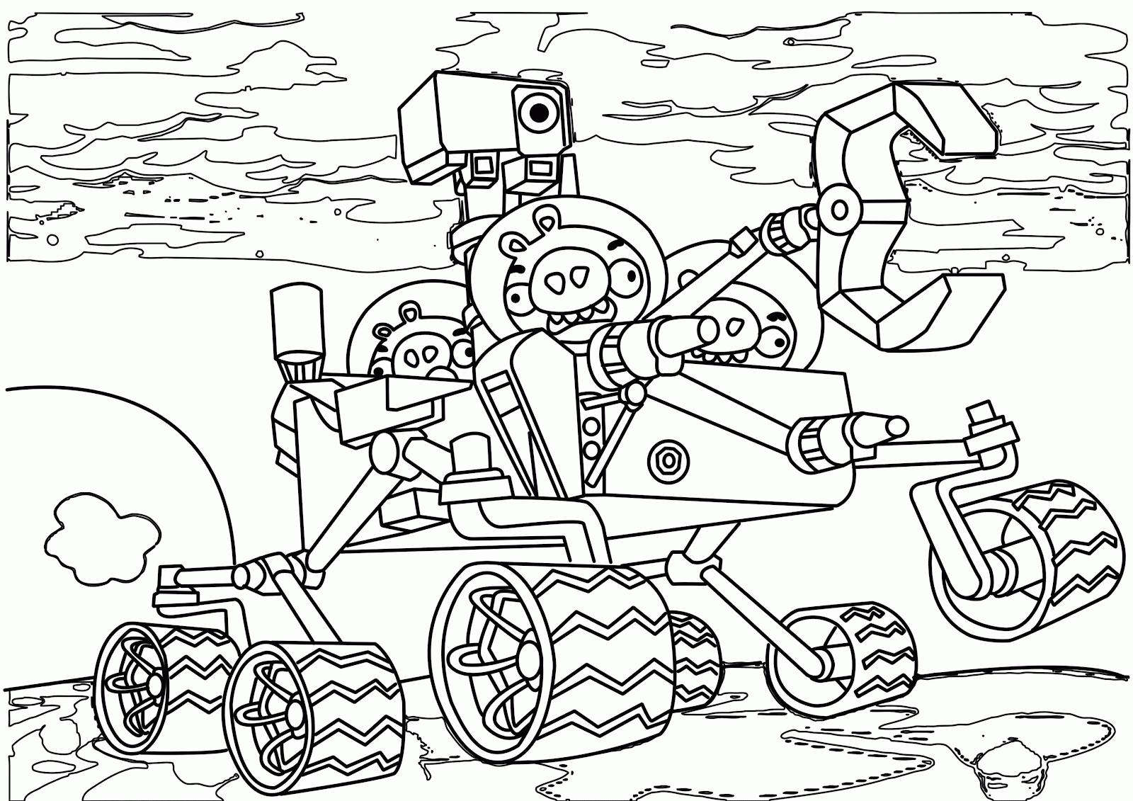 1600x1131 Angry Birds Go Coloring Pages