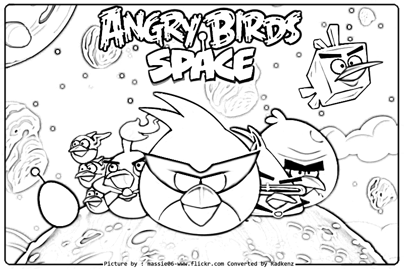 800x533 Angry Birds Space Coloring Pages Free