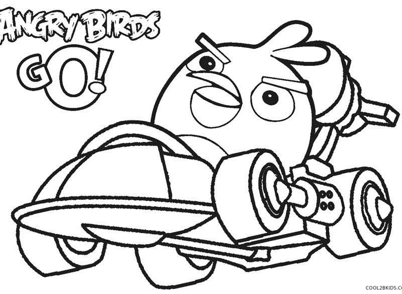 Kleurplaten Angry Birds Race - ARCHIDEV