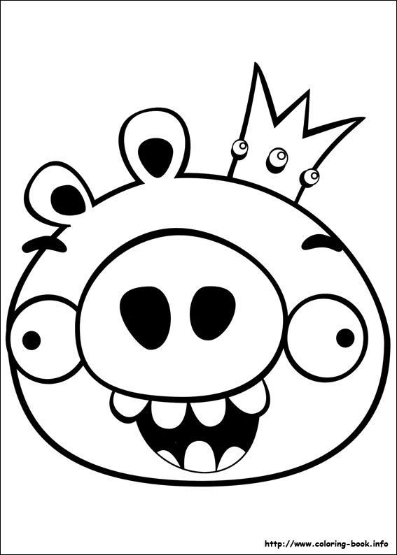 567x794 Angry Birds Coloring Page