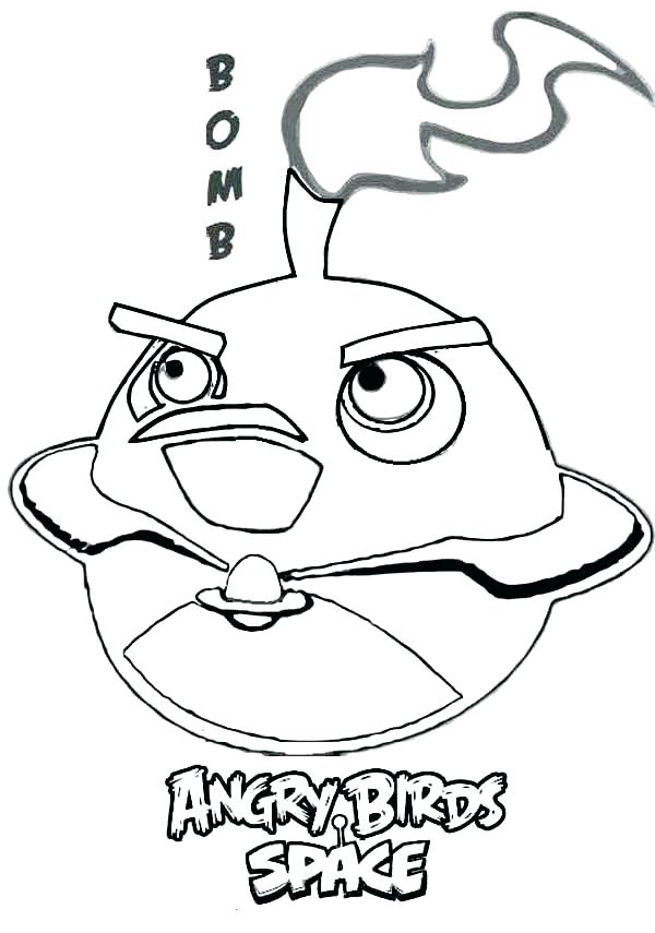 600x855 Angry Bird Coloring Book Angry Bird Coloring Bomb Bird In Angry