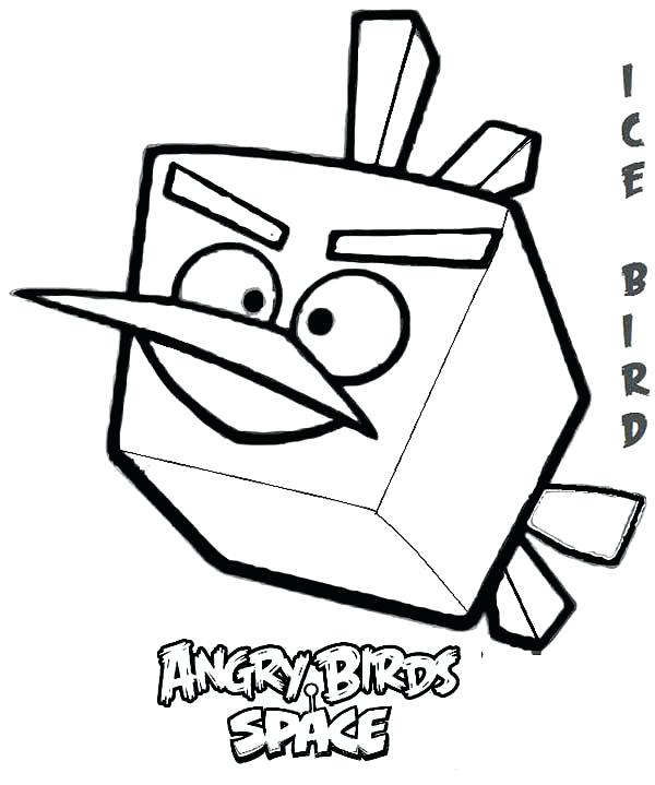 600x719 Angry Bird Coloring Page Angry Birds Coloring Pages Angry Birds