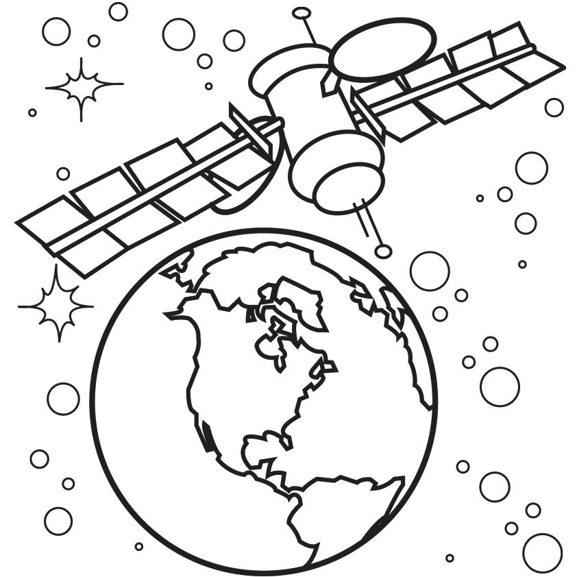 842x842 Coloring Pages Space Space Coloring Pages Earth Satellite Angry