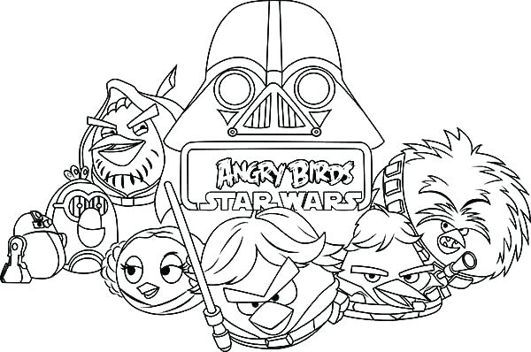 600x398 Angry Birds Star Wars Colouring Pages To Print