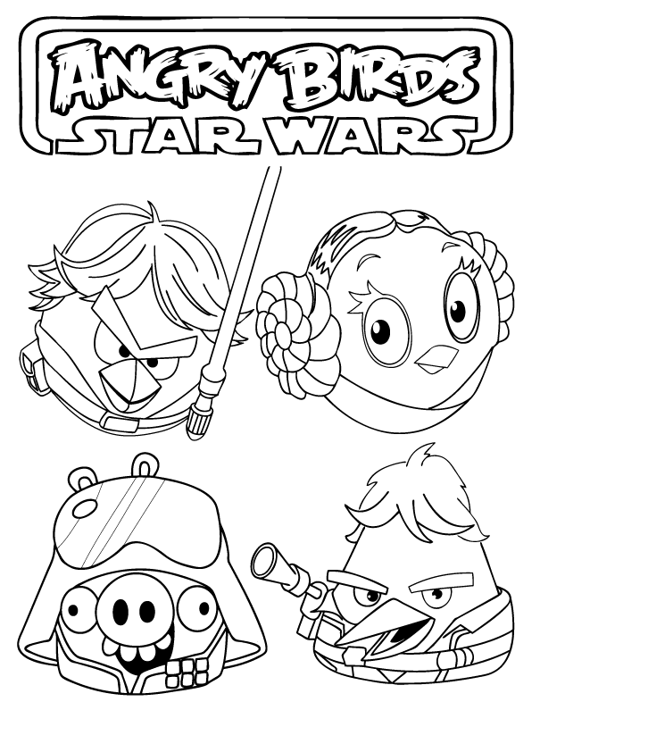 726x842 Angry Birds Star Wars Printable Coloring Pages Coloring Page