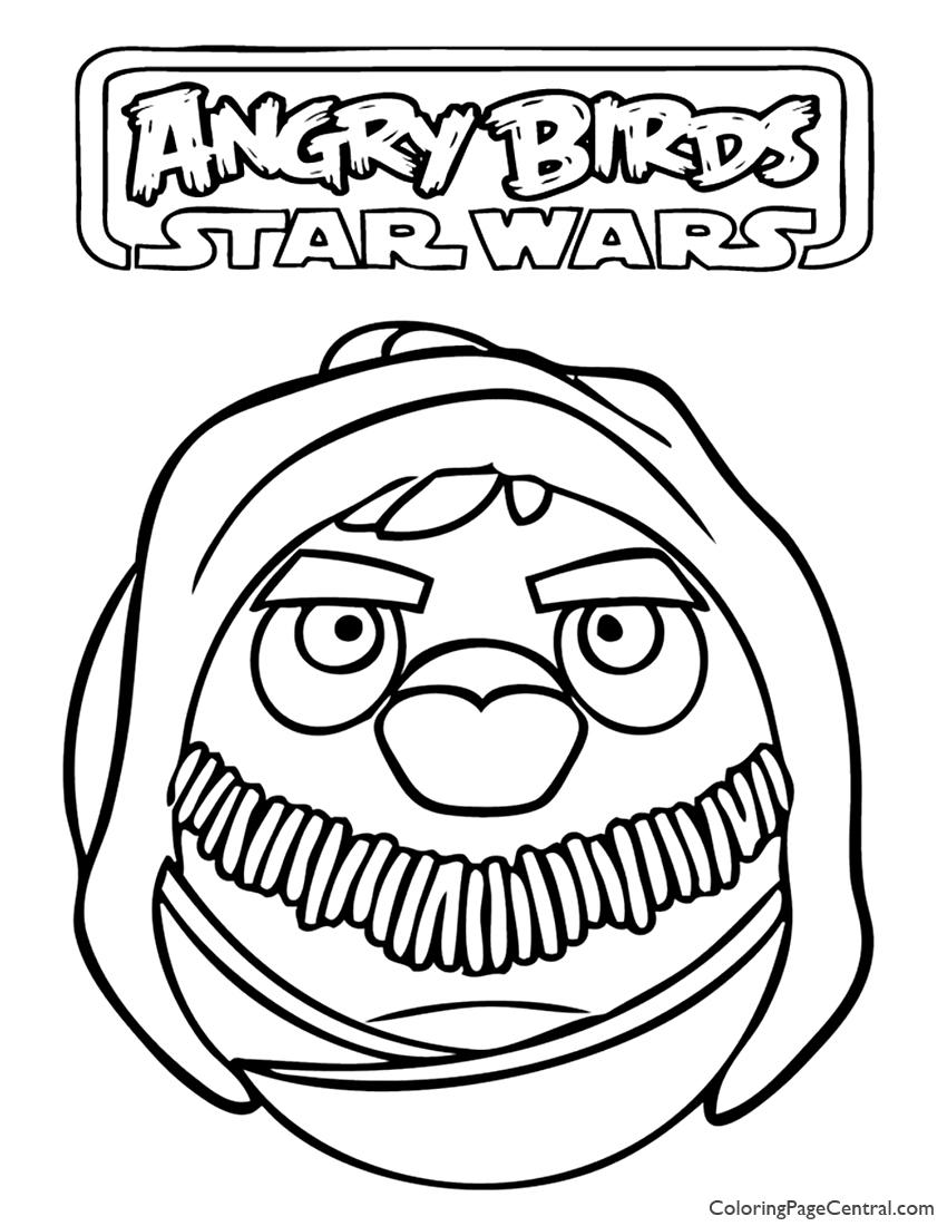 850x1100 Angry Birds Star Wars Obi Wan Kenobi 01 Coloring Page Coloring