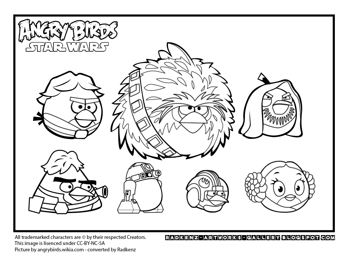 1200x899 Coloring Pages Printable Angry Birds Star Wars