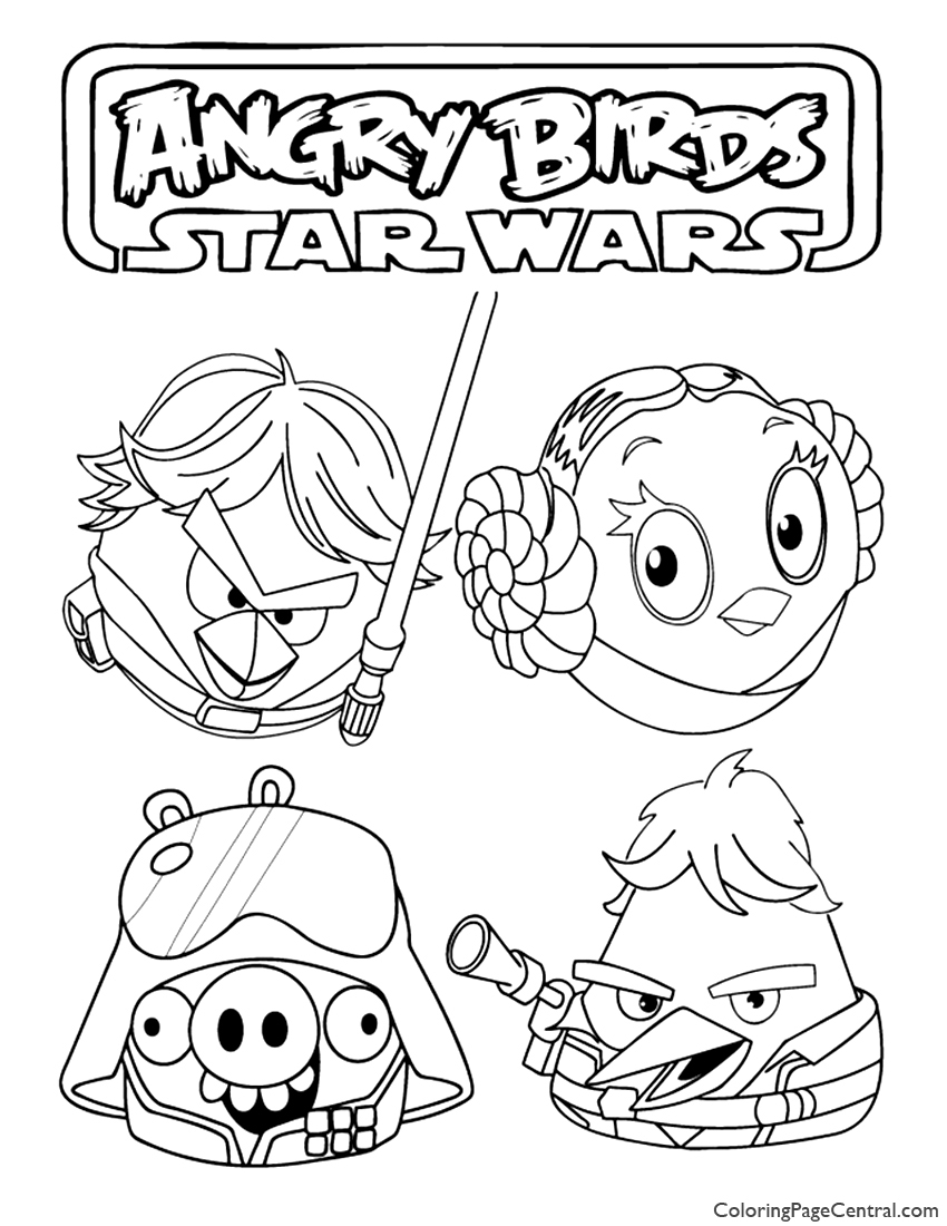 850x1100 Angry Birds Star Wars 03 Coloring Page Coloring Page Central