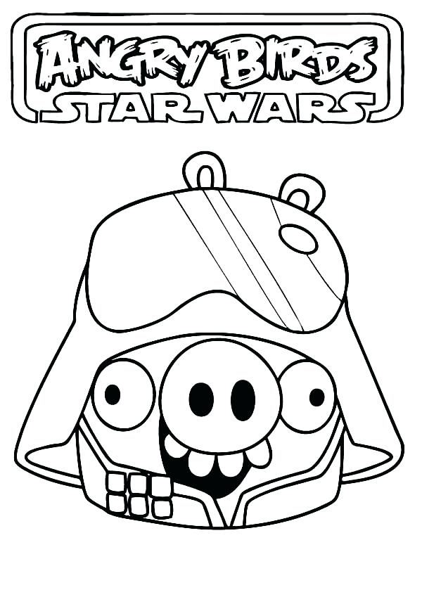 600x849 Star Wars Angry Bird Coloring Pages Angry Birds Star Wars Coloring
