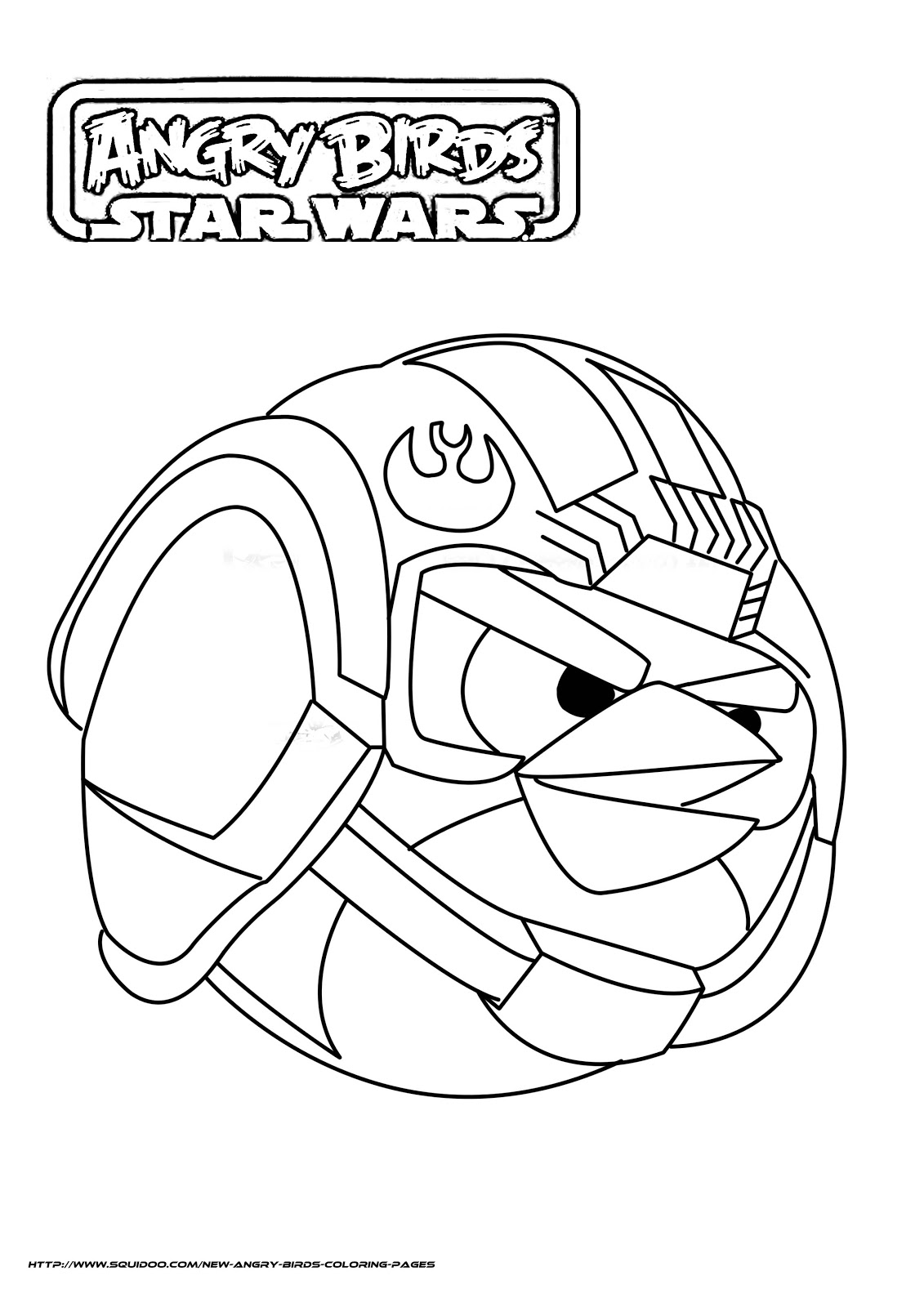Dorable Angry Birds Star Wars Rebels Para Colorear Festooning ...