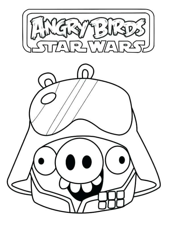 593x840 Star Wars Angry Birds Coloring Pages Star Wars Angry Birds