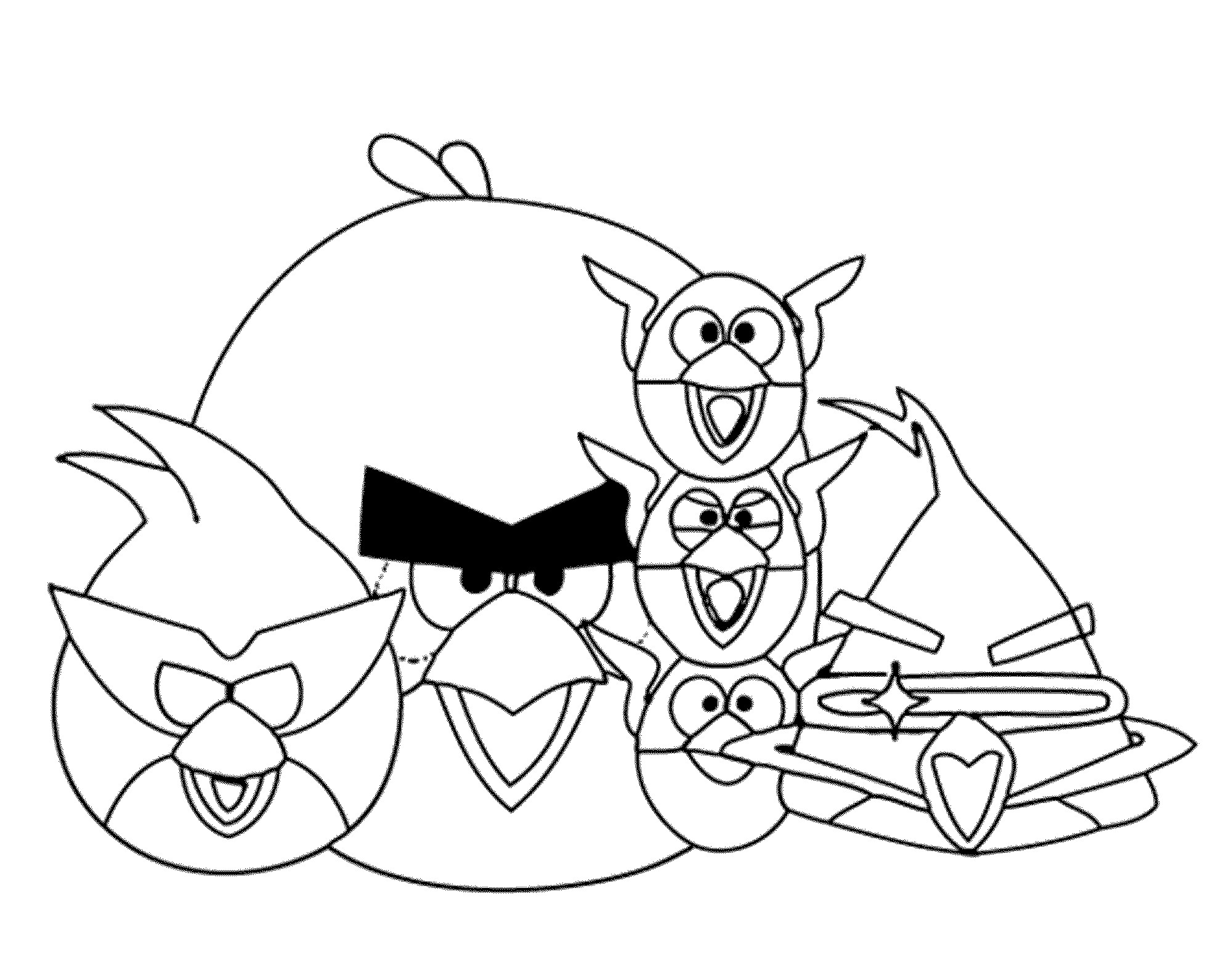 2000x1572 Free Printable Angry Birds Star Wars Coloring Pages Free Draw