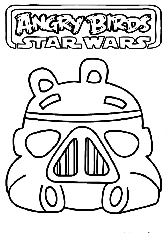 Único Angry Birds Star Wars 2 Coloring Pages Friso - Dibujos Para ...