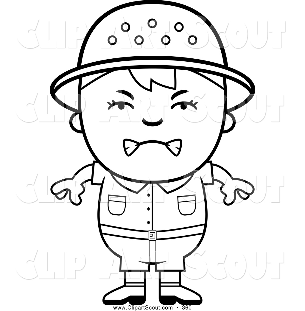 1024x1044 Clipart Of A Upset Black And White Angry Safari Boy By Cory Thoman