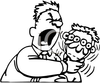 350x290 Royalty Free Clip Art Image Angry Man Choking A Kid