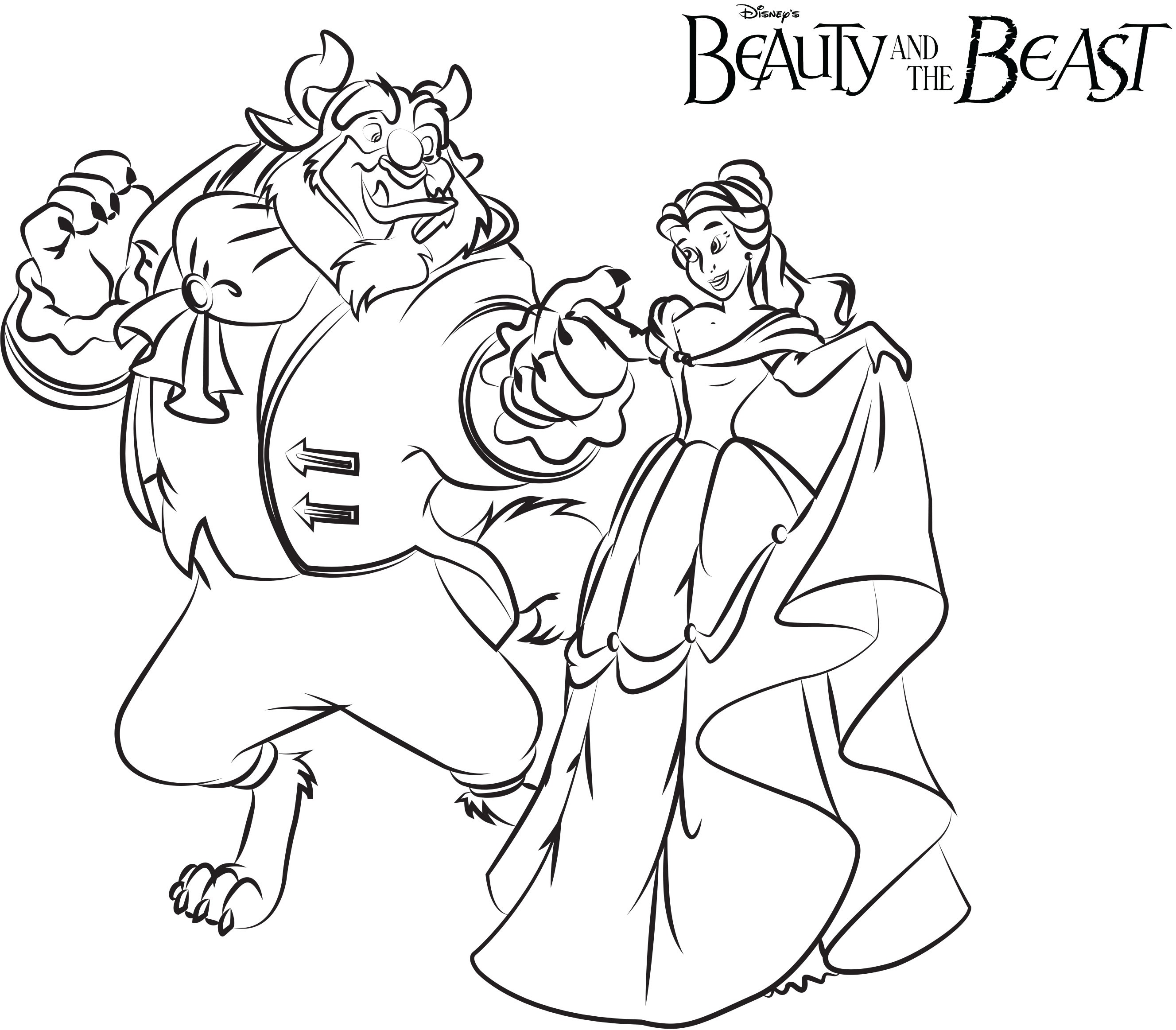 2655x2325 Beauty And The Beast Angry Coloring Pages For Kids Elegant Best