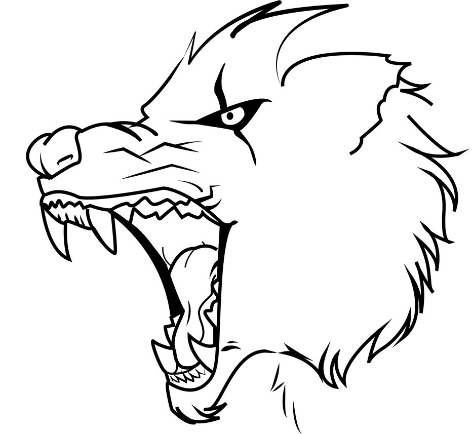 932x857 angry wolf by therayhem