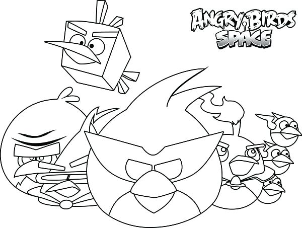600x453 Space Coloring Sheets Drawing Angry Bird Pages