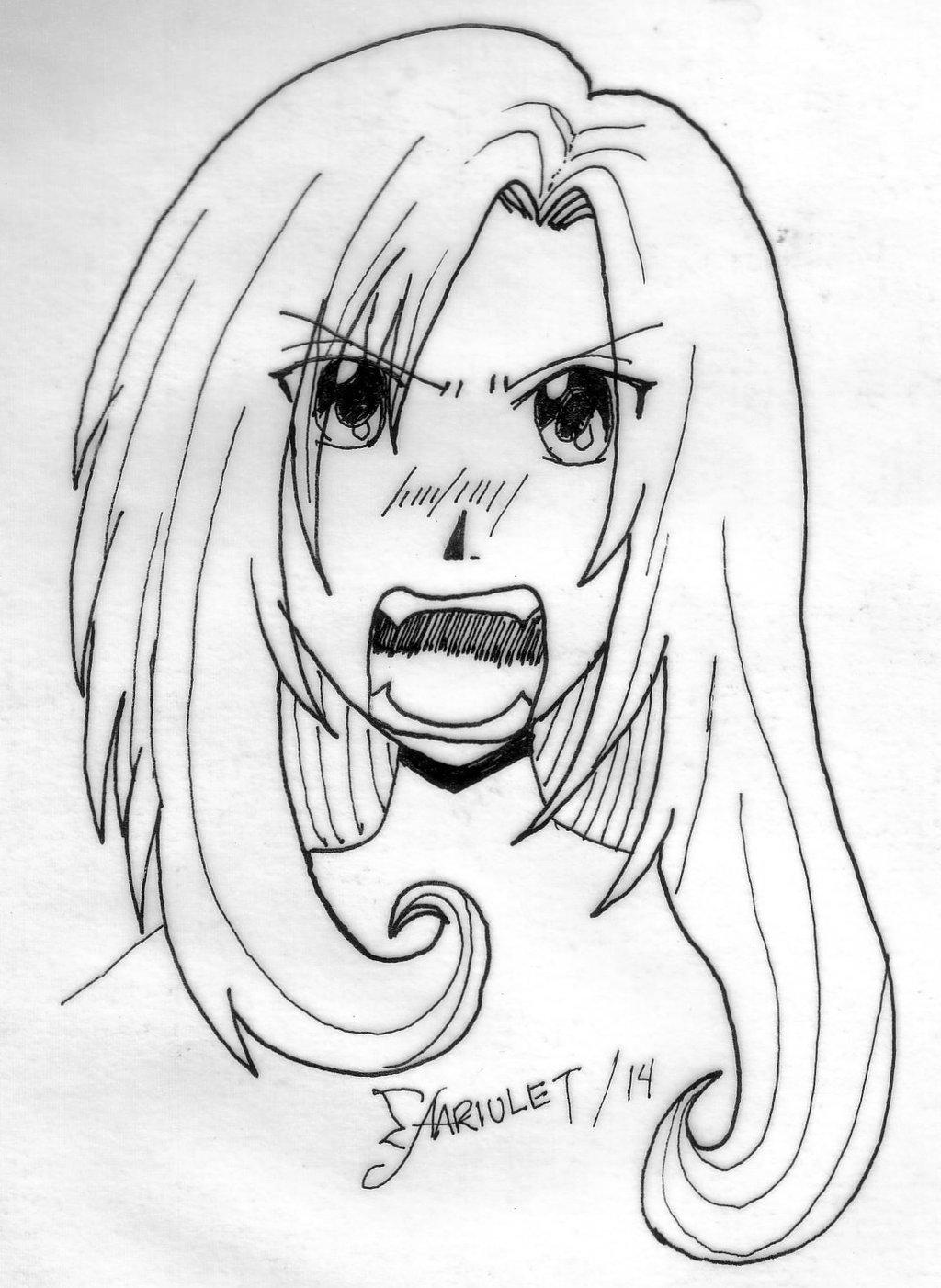 1024x1402 angry anime girl by aariulet