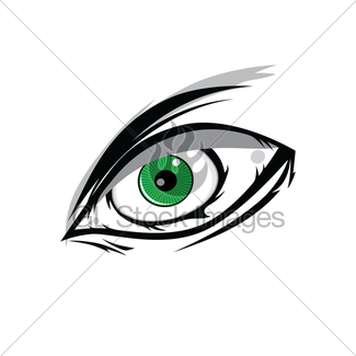 325x325 Cartoon Angry Green Horus God Eyes For Comics Design Vect Gl
