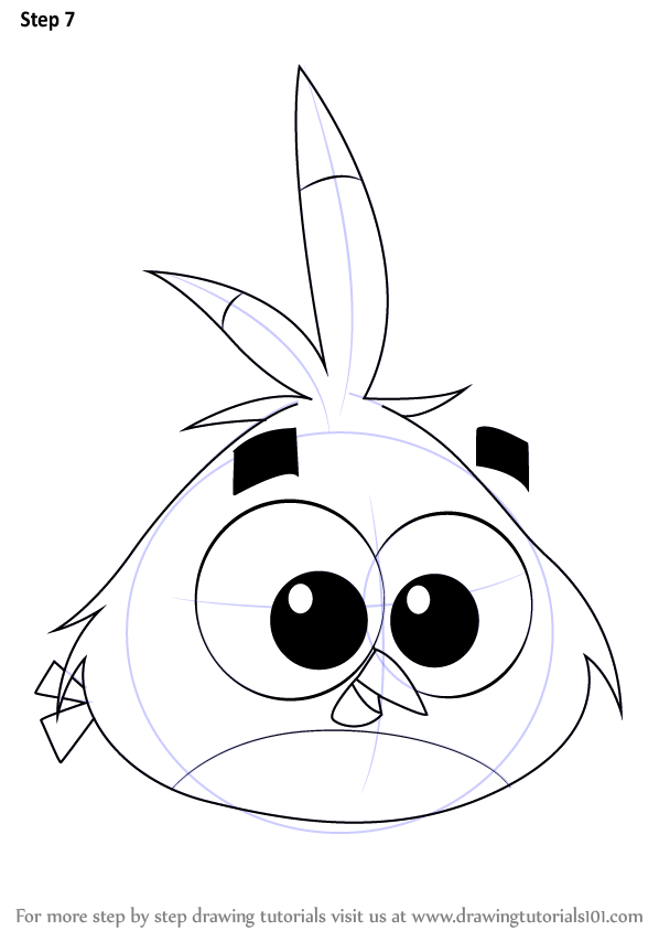 598x844 Learn How To Draw Luca From Angry Birds (Angry Birds) Step By Step