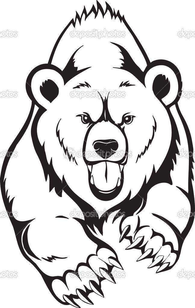 648x1023 Bear Angry Face Tattoo Photo