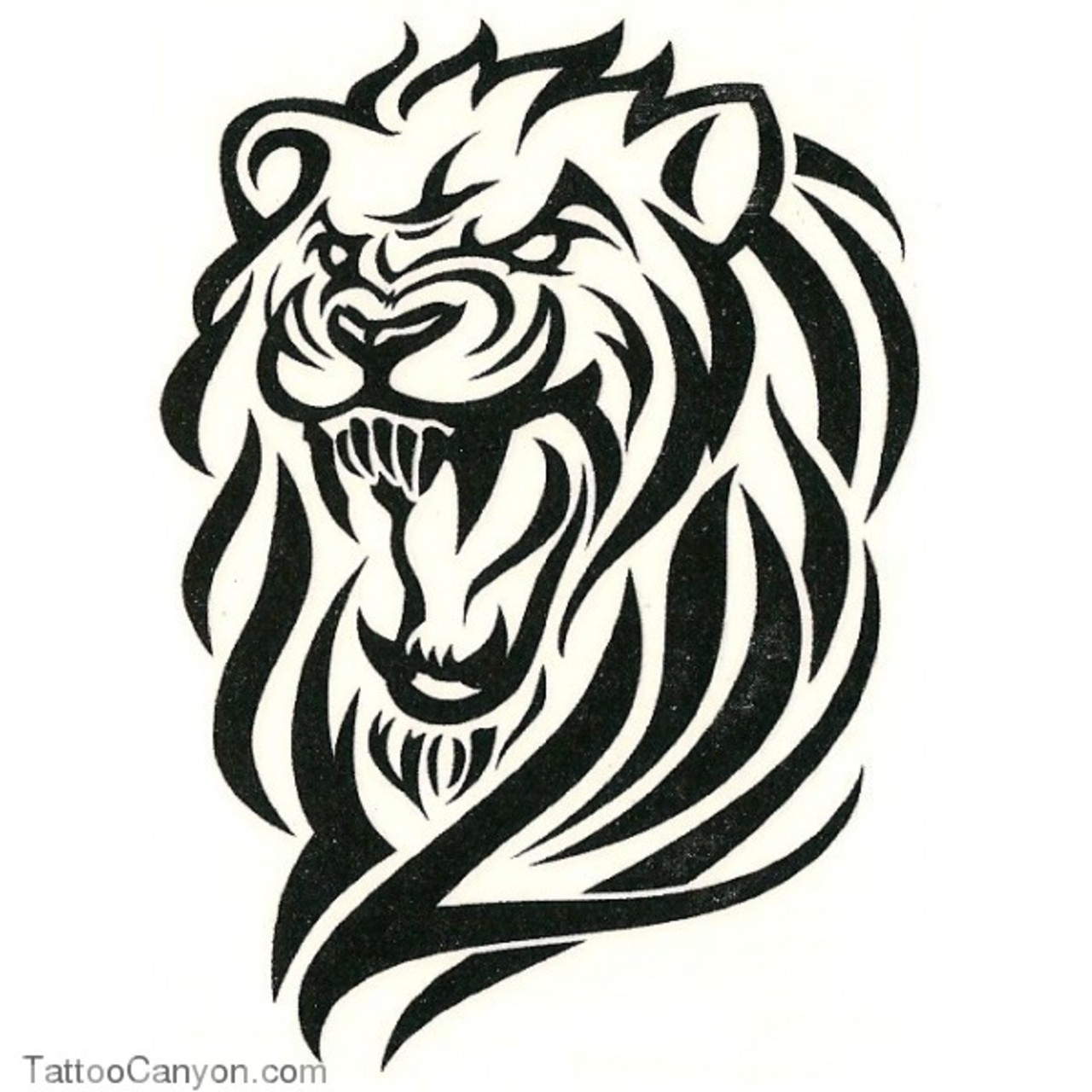 1280x1280 Collection Of Tribal Angry Lion Face Tattoo Design