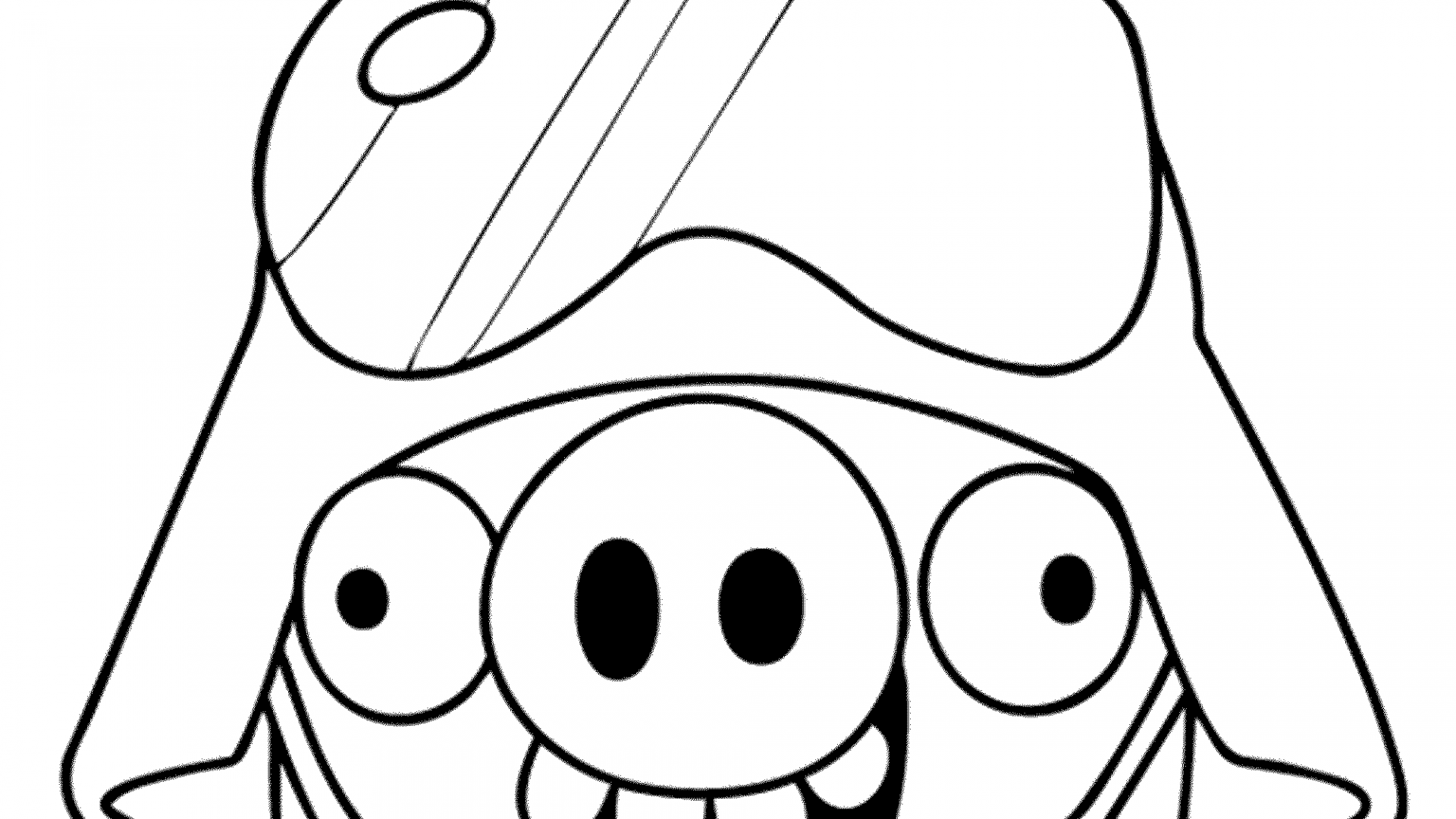 1920x1080 Angry Birds Red Coloring Page Free Printable Pages Cartoons Space