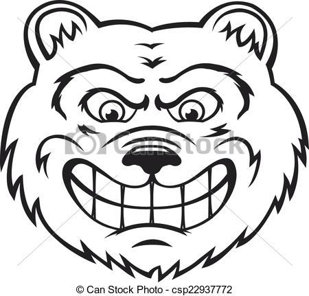 450x431 Angry Bear Mascot Vector Clipart Eps Images. 536 Angry Bear Mascot