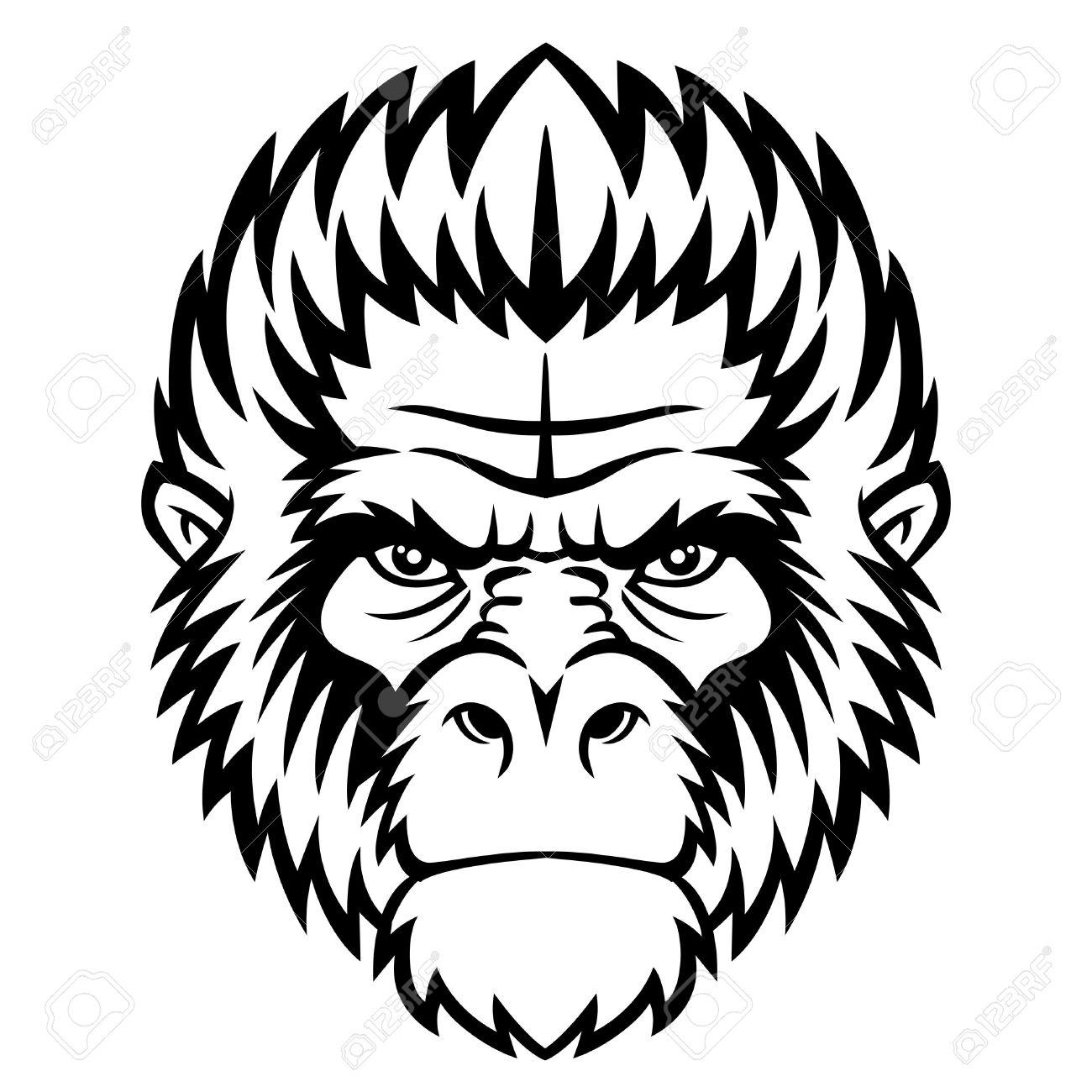 1300x1300 Gorilla Clipart Face