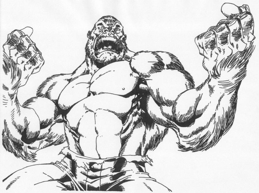 900x673 Gorilla Hulk Roaring By Stonegate