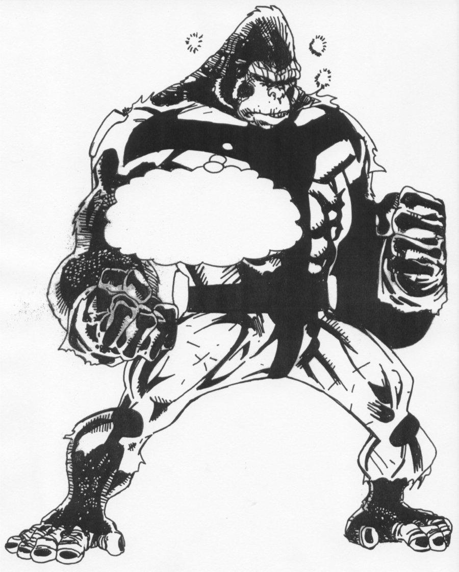 900x1120 Gorilla Roaring Drawing Gorilla Roar Drawing Gorilla Grodd