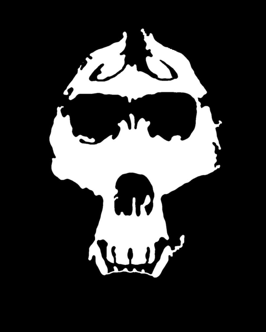 900x1125 Gorilla Skull Stencil By Zimdrake