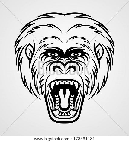 427x470 Angry Gorilla Head Tattoo Design Vector Amp Photo Bigstock