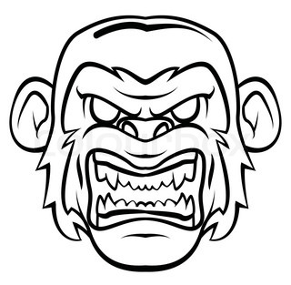 320x313 Illustration Of Angry Gorilla Cartoon Stock Vector Colourbox